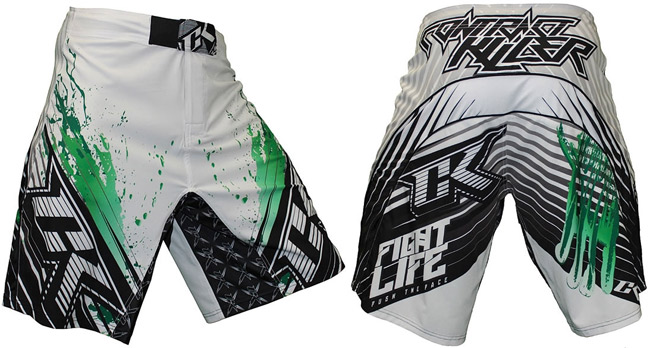 contract-killer-s2-fight-shorts-white-green