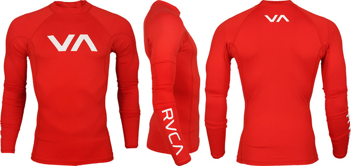 rvca-rashguard-red