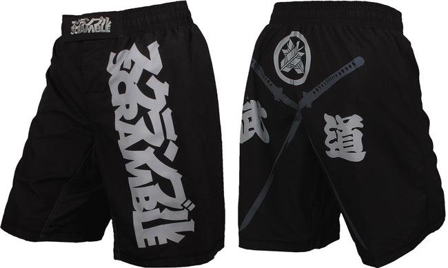 scramble-crossed-swords-mma-shorts