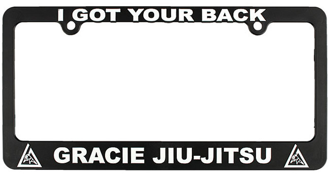 gracie-jiu-jitsu-i-got-your-back-license-plate-frame