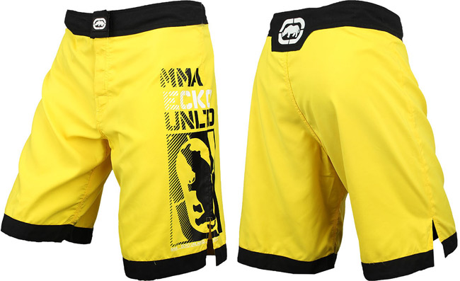 ecko-mma-posterize-fight-shorts-yellow