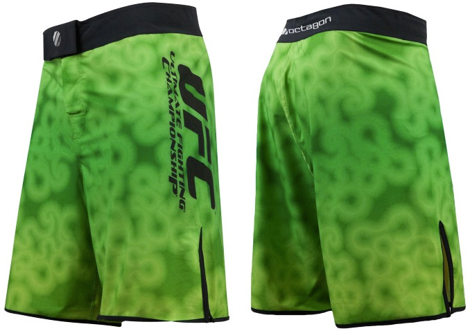 ufc-electric-green-training-shorts