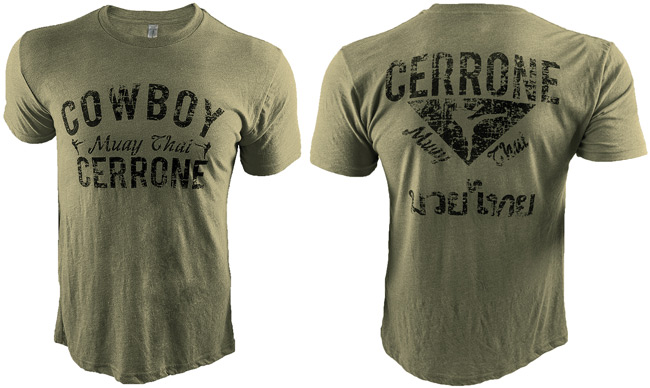 cowboy-cerrone-muay-thai-shirt-green