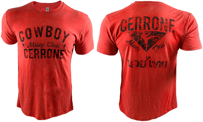 cowboy-cerrone-muay-thai-shirt-red