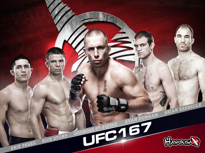 hayabusa-ufc-167-team