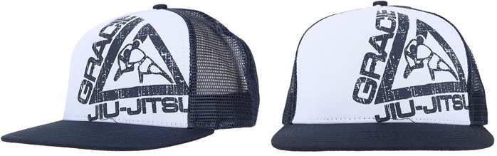 gracie-jiu-jitsu-blue-trucker-hat