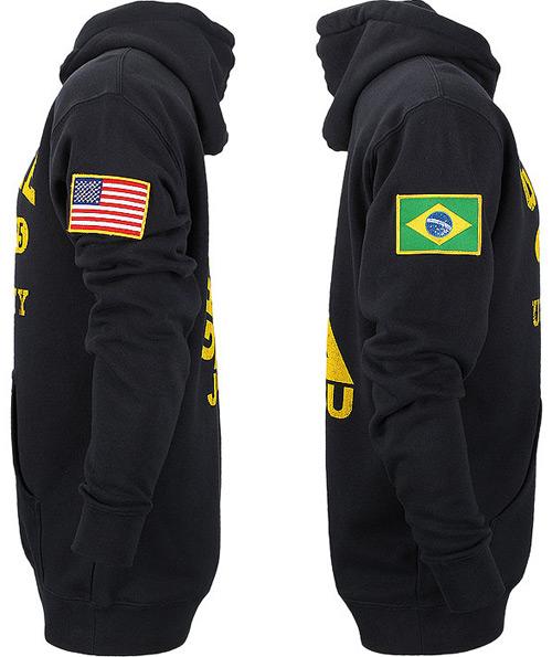 Gracie Jiu-Jitsu University Flag Hoodie | FighterXFashion com
