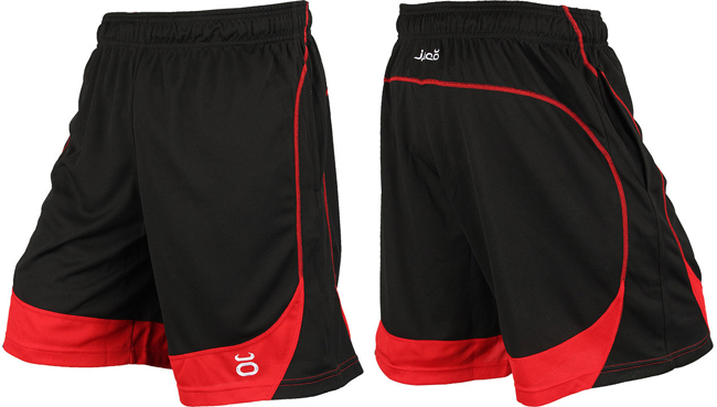 "Jaco Clothing Shorts /"" Twisted Mock Mesh/"" Black Red Shorts"