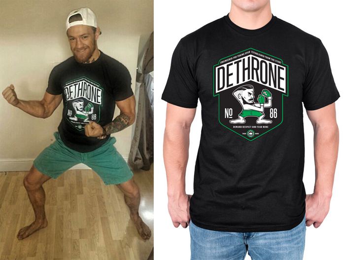 dethrone conor mcgregor ufc dublin walkout shirt