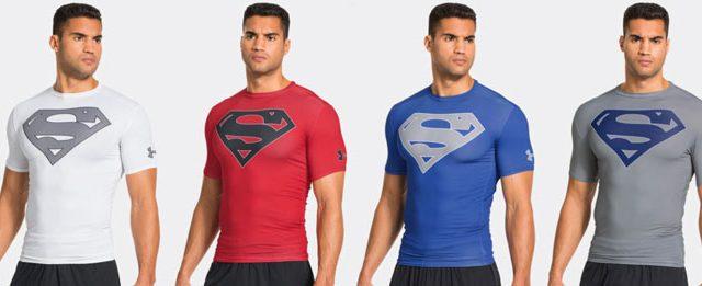 Te mejorarás Círculo de rodamiento erupción  Under Armour Alter Ego Superman Team Compression Shirts |  FighterXFashion.com
