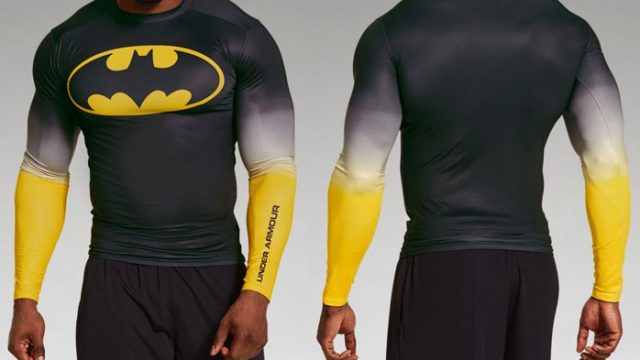 salami segmento Indirecto  Under Armour Alter Ego Batman Long Sleeve Gradient Compression Shirt |  FighterXFashion.com