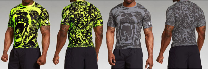 Under armour alter ego beast bear compression shirt for Beast mode shirt under armour