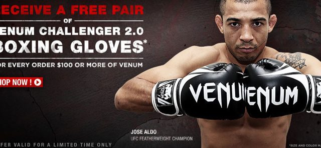 promo code 46e99 dc417 Get a Free Pair of Venum Challenger 2.0 Boxing Gloves with Venum Purchase  at MMA Warehouse