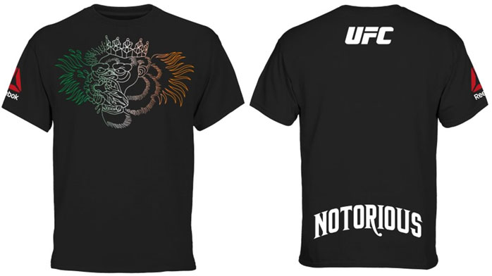 9eaaa9f3 Reebok Conor McGregor UFC Fight Night 59 Boston Weigh In Shirt ...