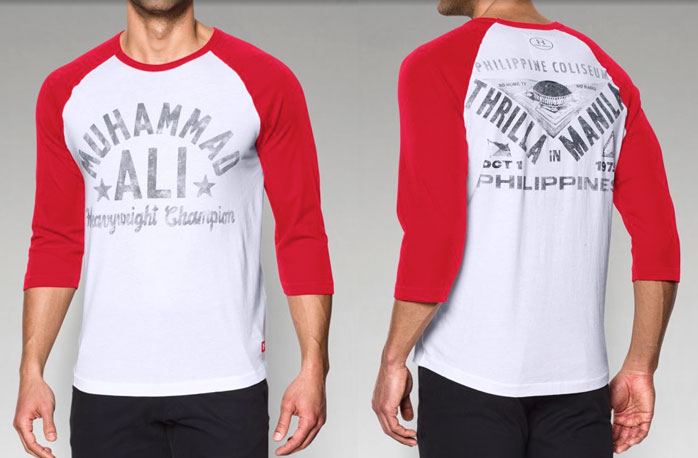 Under armour roots of fight muhammad ali clothing and shirts for Thrilla in manila shirt under armour