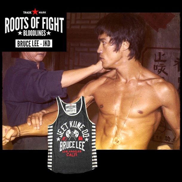 c2b34c487aaf7 Roots of Fight Bruce Lee JKD Triblend Striped Tank – FighterXFashion.com