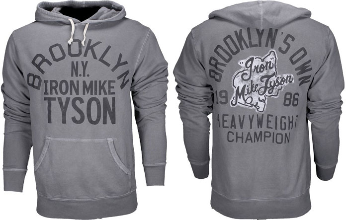Iron Mike Tyson Brooklyn NY 1986 Hooded top//Hoody//Hoodie Boxing Grey