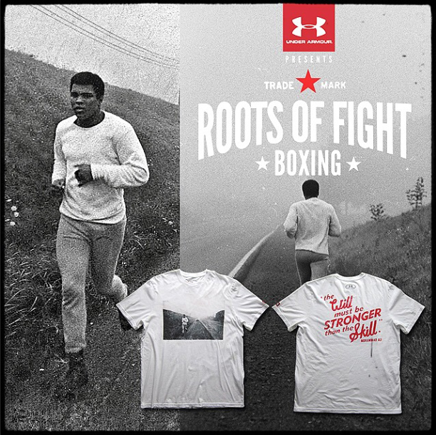 72aeac04 roots-of-fight-muhammad-ali-will-skill-shirt. With a complete Under Armour  ...