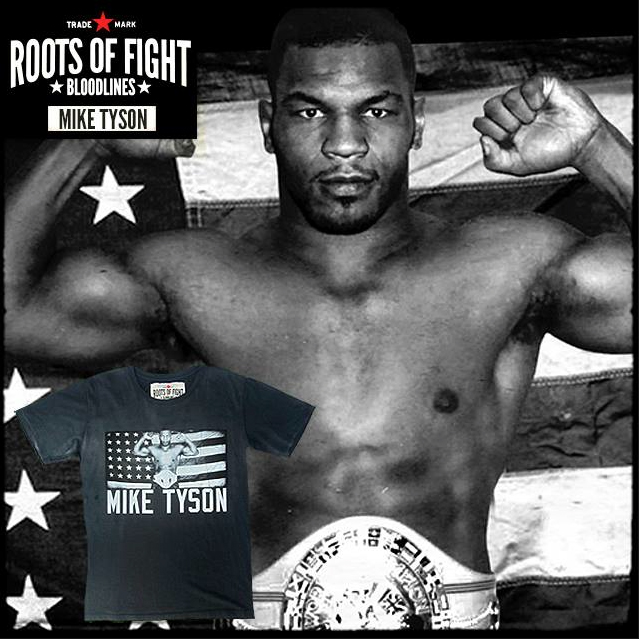 Roots Of Fight Mike Tyson Flex Photo Shirt