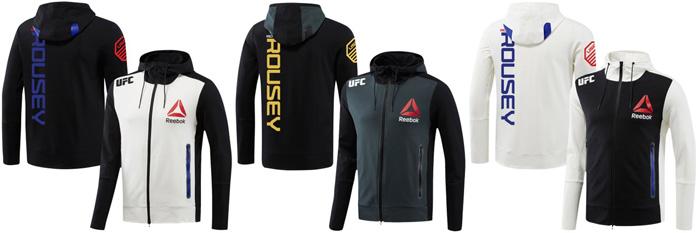 63025d1de036 Fighter Fashion  Ronda Rousey UFC 190 Reebok Walkout Hoodies