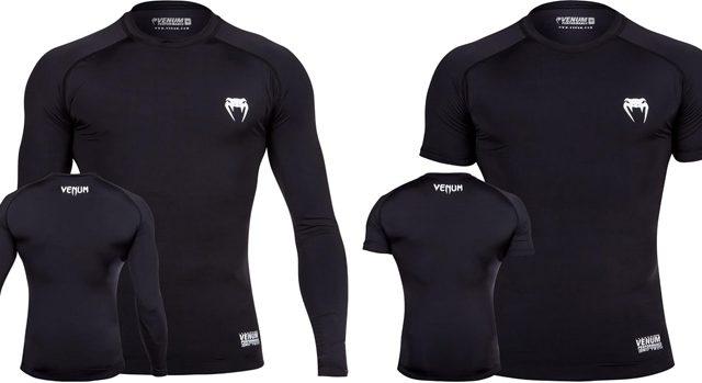 Venum Contender Compression Top Rashguard Short Sleeve Black