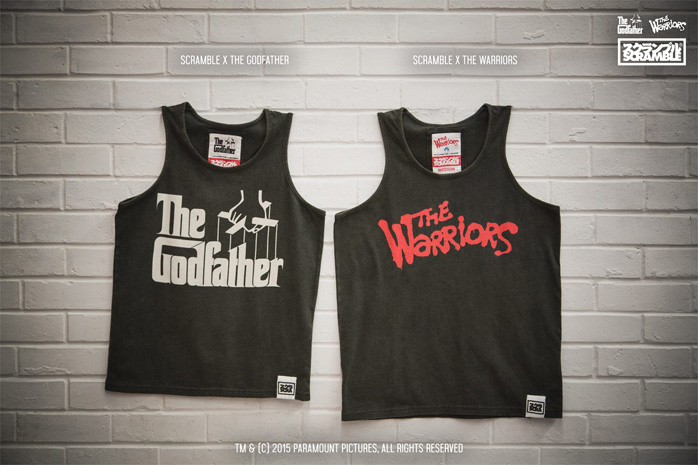 5872cbcc Scramble x The Godfather and The Warriors Tank Tops ...