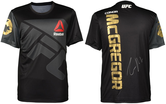 0455782ab Conor McGregor Autographed UFC Reebok Champion Jersey ...