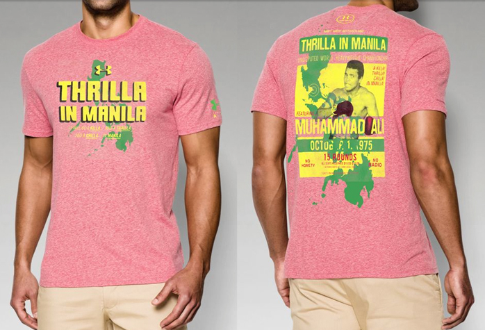 under armour muhammad ali thrilla poster shirt