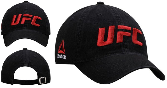 66e2d02a246 Fighter Fashion  UFC Reebok Slouch Adjustable Hats