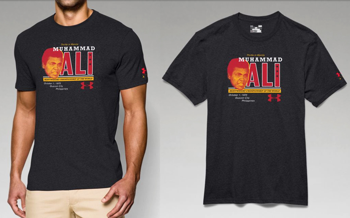 under armour muhammad ali thrilla grim t shirt
