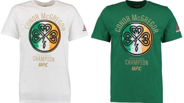 33114304167fa5 Conor McGregor Reebok UFC Icon Champion Flag T-Shirt (Green and White  Versions)