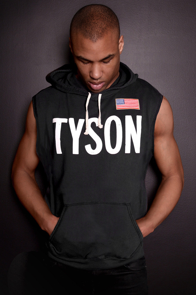 roots of fight mike tyson 86 sleeveless hoodie. Black Bedroom Furniture Sets. Home Design Ideas