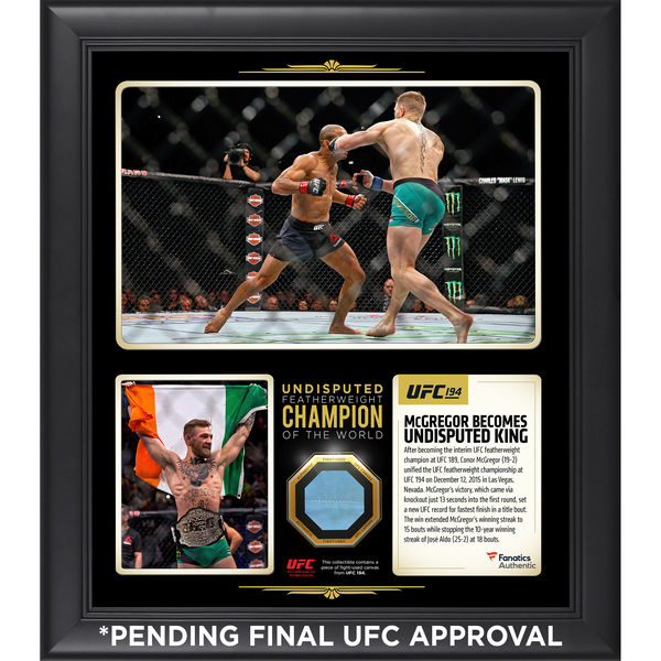 67934050e56 Conor McGregor UFC 194 Autographed Collectibles – FighterXFashion.com