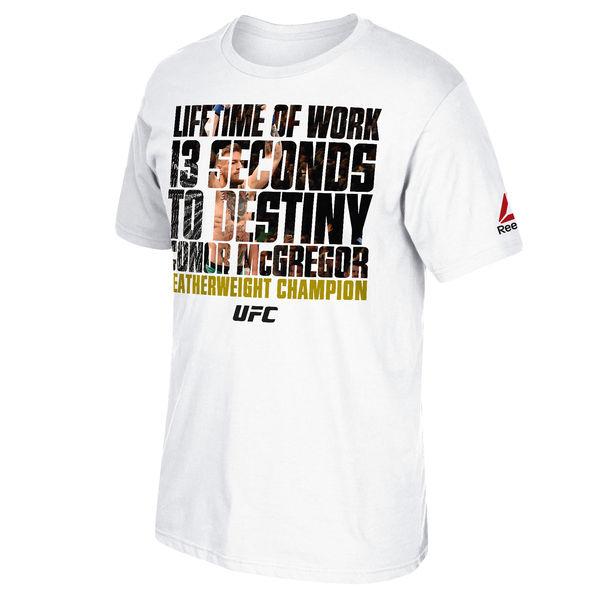 a6defae9e9c10 Conor McGregor UFC 194 Reebok Lifetime of Work Shirt ...