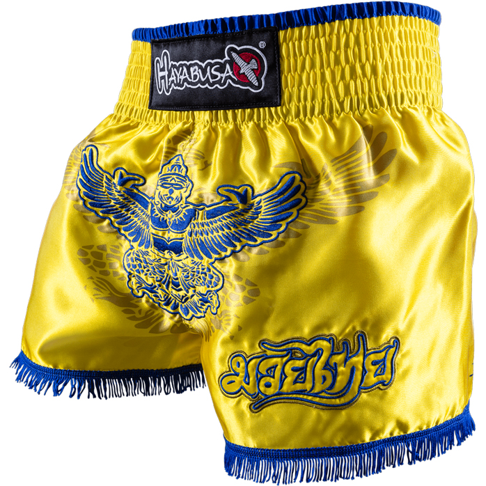 hayabusa-garuda-muay-thai-shorts-yellow