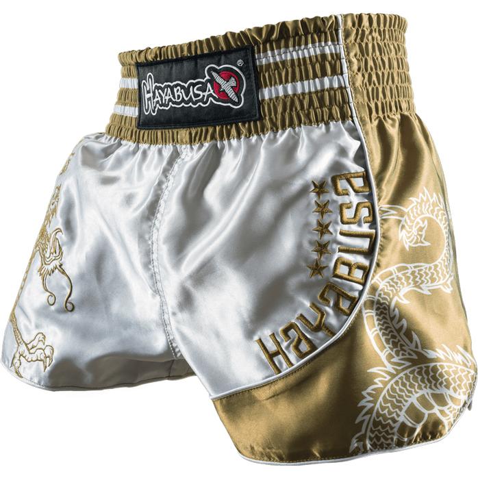 hayabusa-sacred-muay-thai-shorts-gold