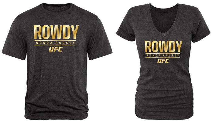 Ronda Rousey UFC Gold TriBlend T Shirt