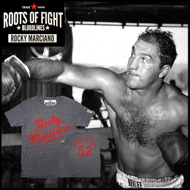 8f0c4740 Roots of Fight Rocky Marciano '52 T-Shirt – FighterXFashion.com
