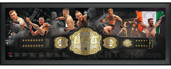 488b932da56 Conor McGregor Autographed UFC Replica Championship Belt in Framed ...