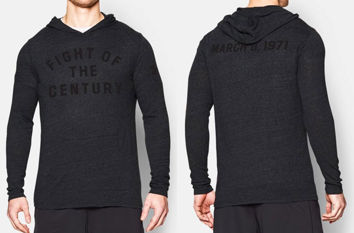 under armour muhammad ali fight of the century hoodie. Black Bedroom Furniture Sets. Home Design Ideas