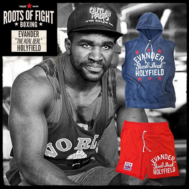 Roots Of Fight Evander Holyfield Sleeveless Hoodie And