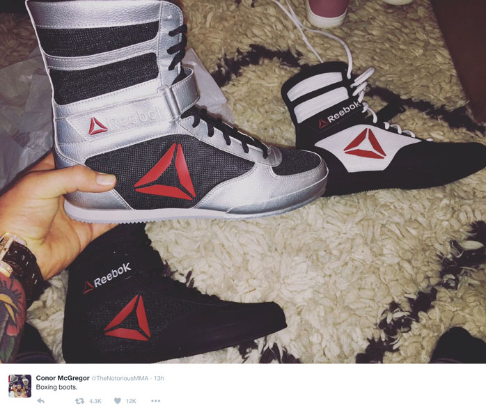 Conor McGregor Reveals New Reebok Boxing Boots