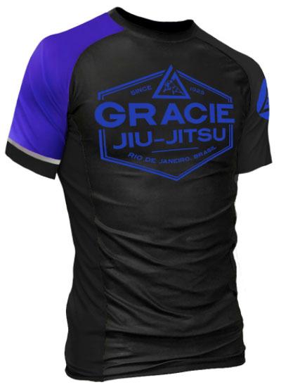 gracie-rank-rashguard-blue