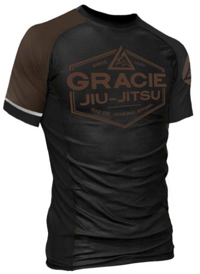 gracie-rank-rashguard-brown