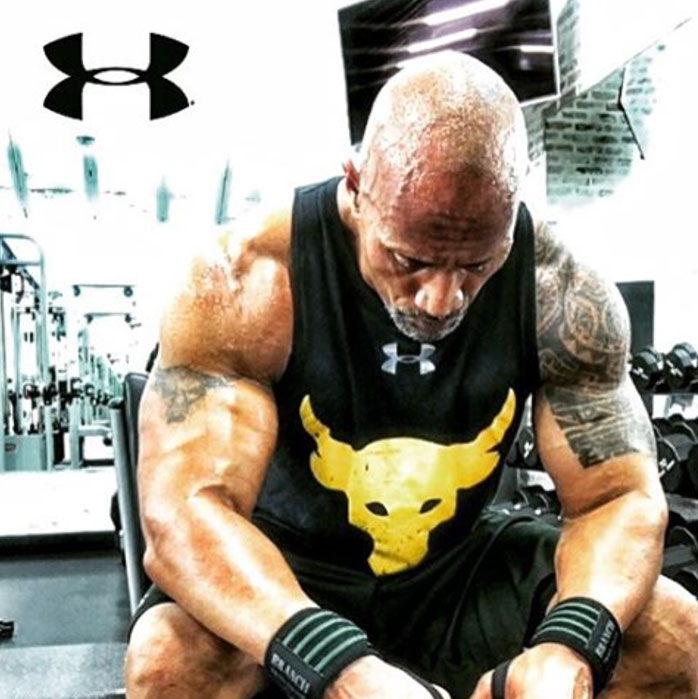 the rock under armour tank