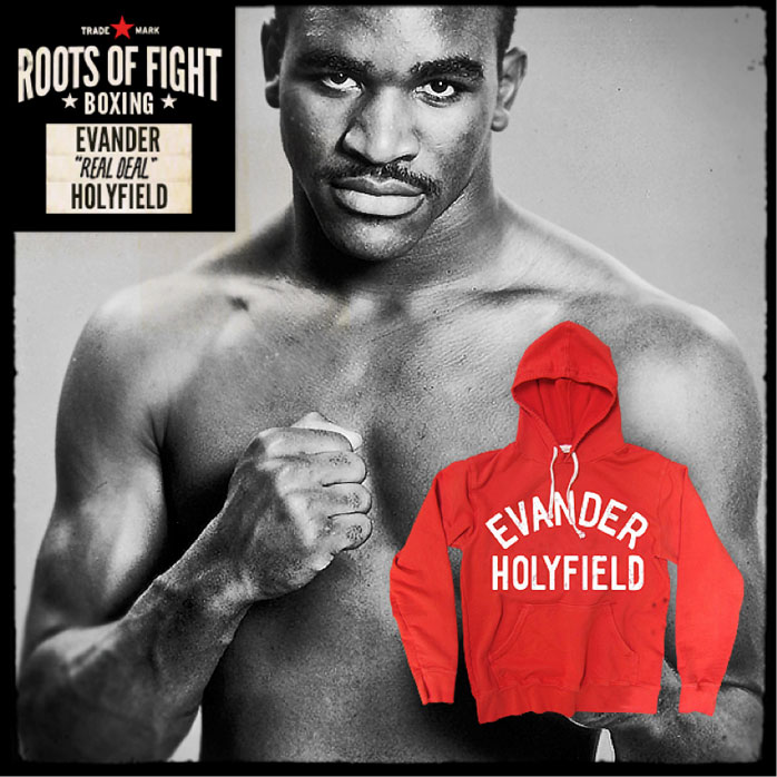 Roots of fight evander holyfield pullover hoodie for Joe shirt knoxville tn
