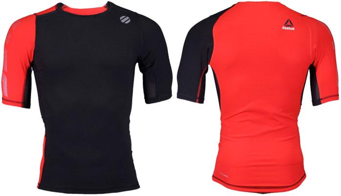 Reebok UFC Training Short Sleeve Compression Rash guard Top Shirt