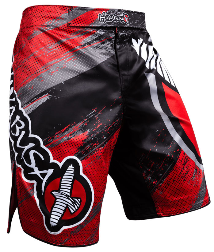 hayabusa-chikara-3-fight-shorts-red-1