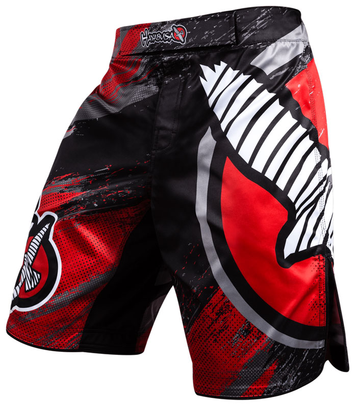 hayabusa-chikara-3-fight-shorts-red-2