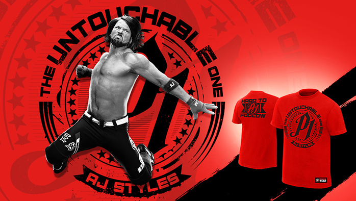 "Official WWE AJ Styles /""The Phenomenal One/"" Vintage T-Shirt"